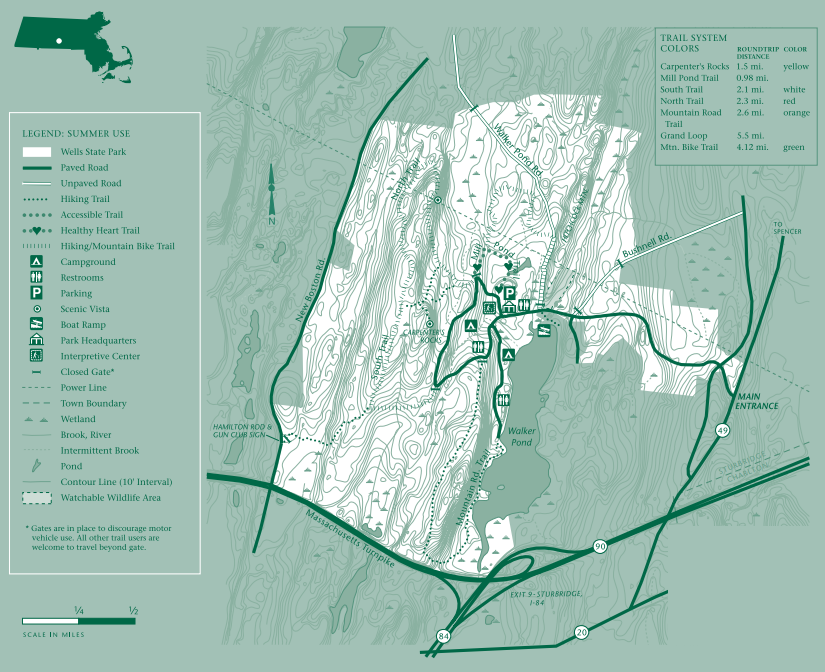 Wells State Park Trail Map
